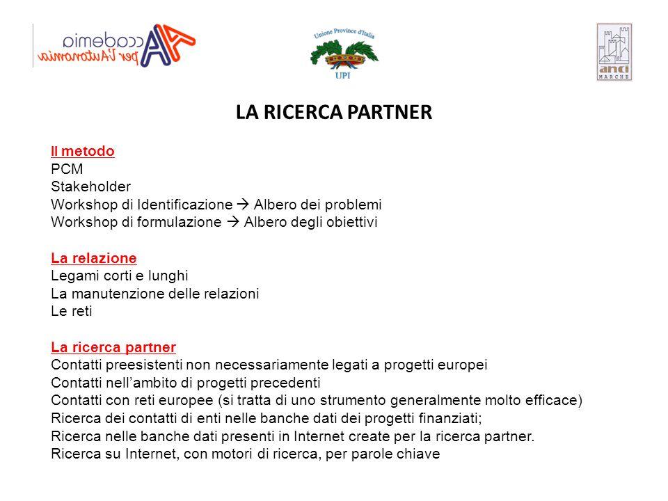 LA RICERCA PARTNER PCM Stakeholder