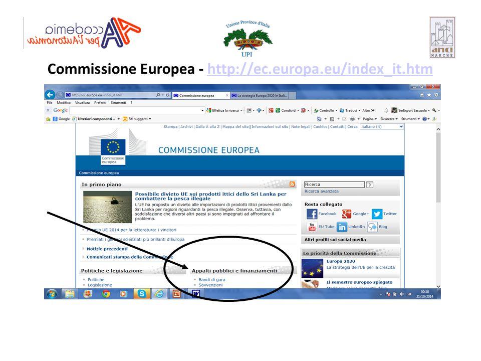 Commissione Europea - http://ec.europa.eu/index_it.htm