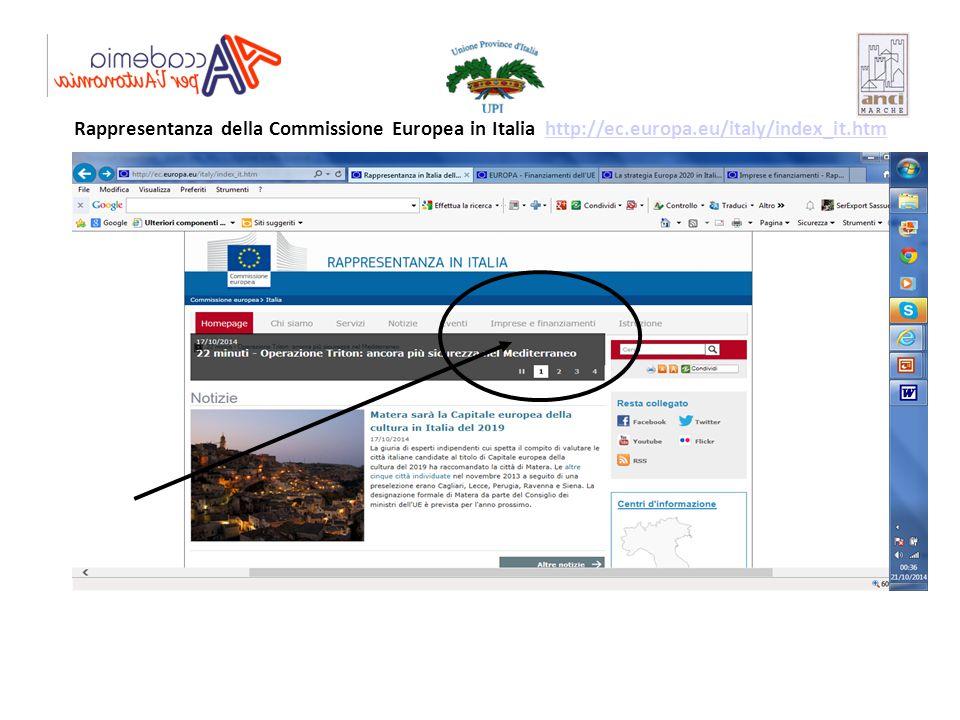 Rappresentanza della Commissione Europea in Italia http://ec. europa