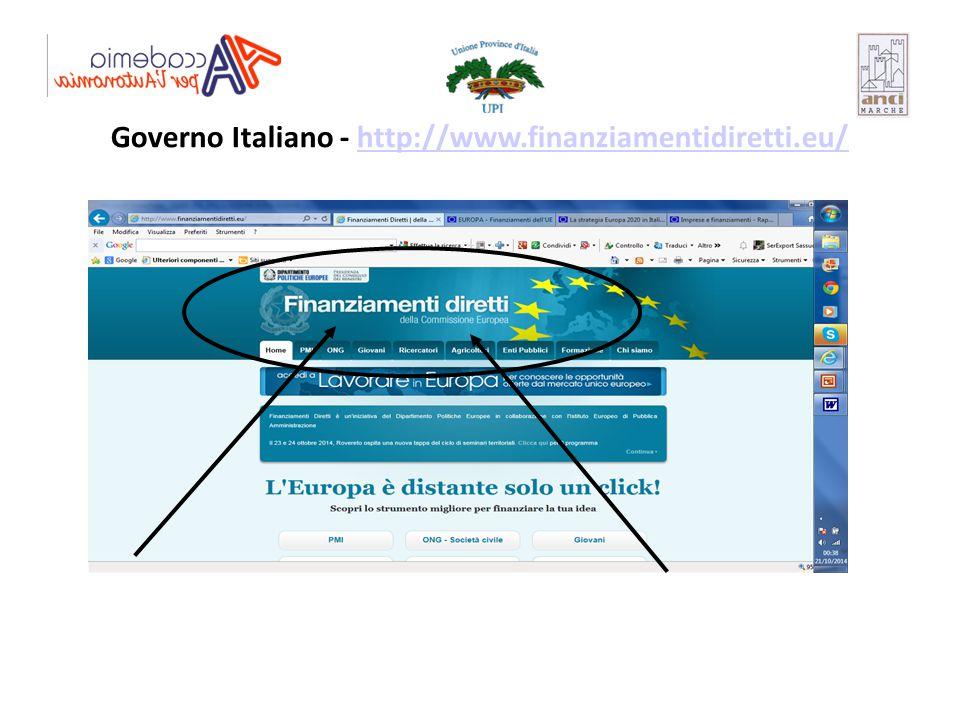 Governo Italiano - http://www.finanziamentidiretti.eu/