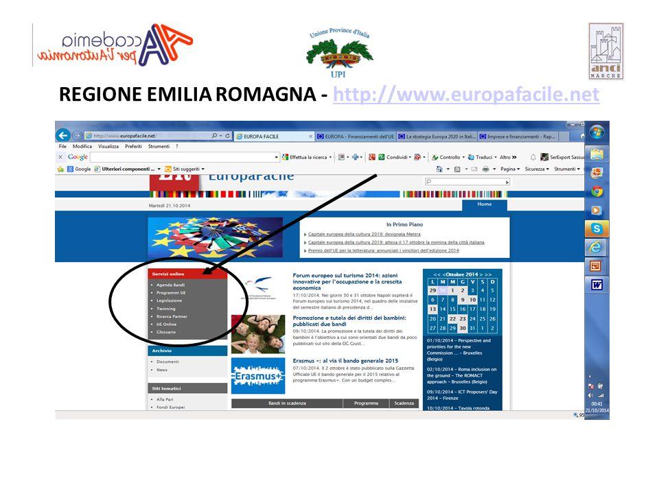 REGIONE EMILIA ROMAGNA - http://www.europafacile.net