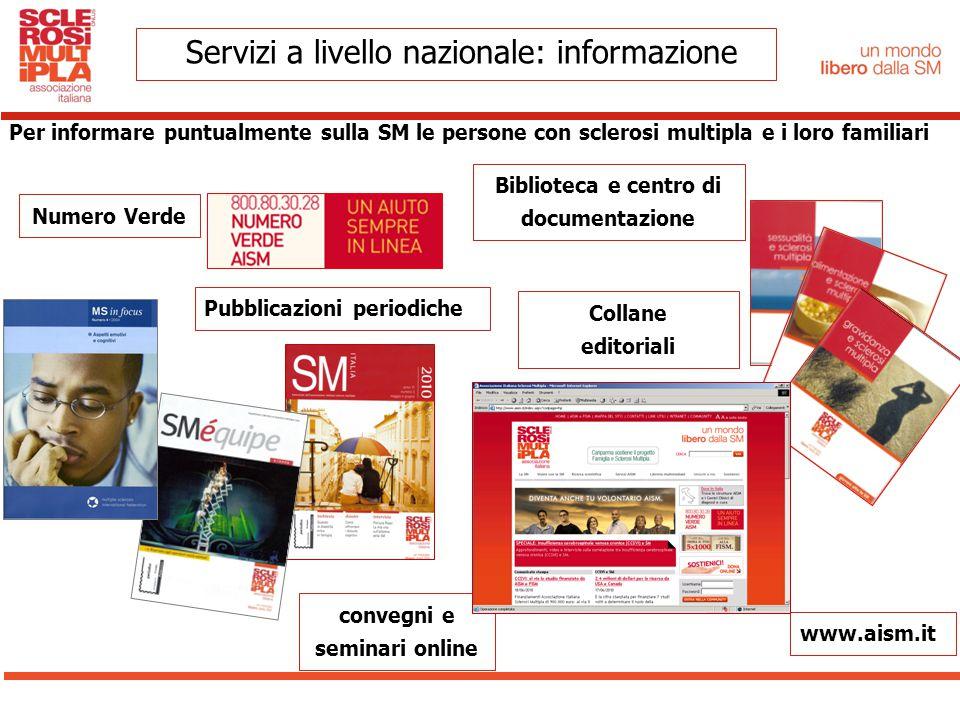 Servizi a livello nazionale: informazione