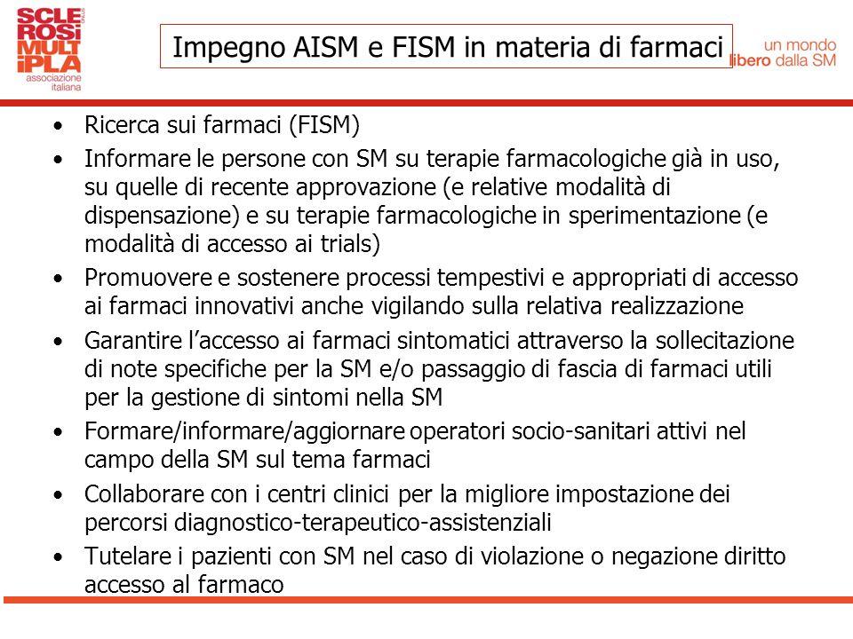 Impegno AISM e FISM in materia di farmaci