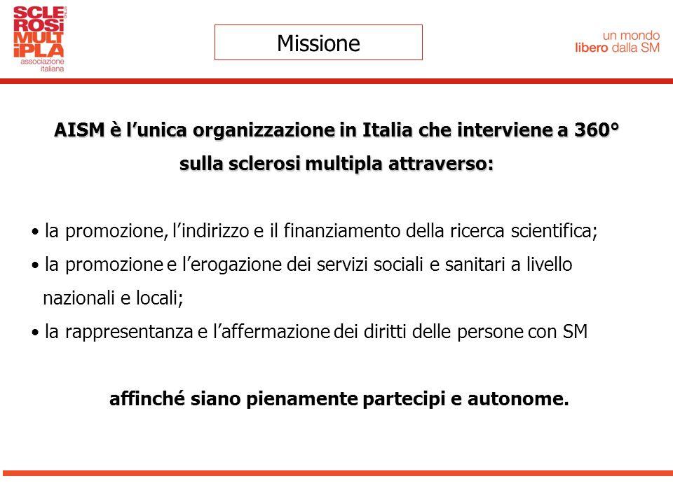 Missione AISM è l'unica organizzazione in Italia che interviene a 360°