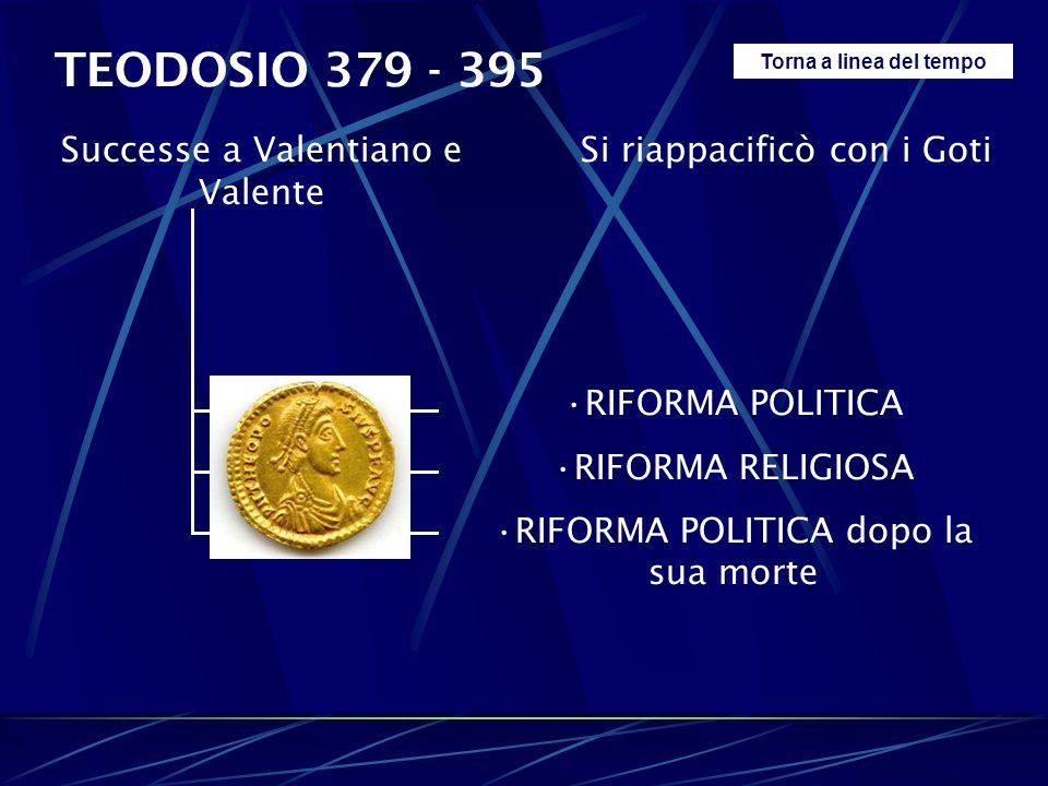 TEODOSIO 379 - 395 Successe a Valentiano e Valente