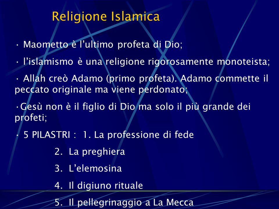 Religione Islamica Maometto è l'ultimo profeta di Dio;