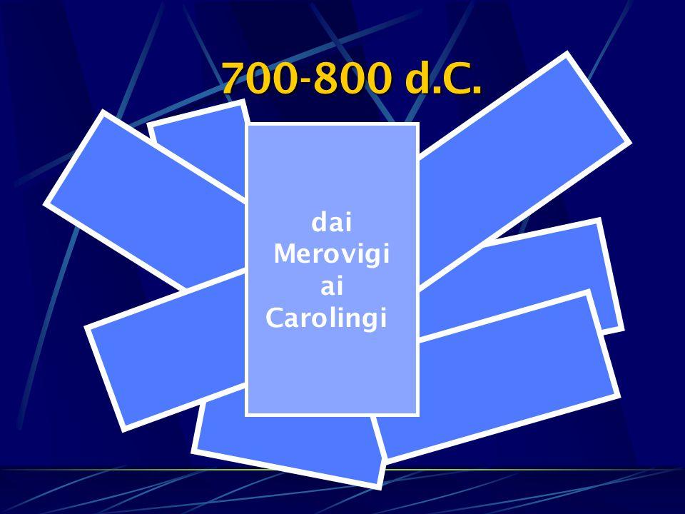 700-800 d.C. dai Merovigi ai Carolingi