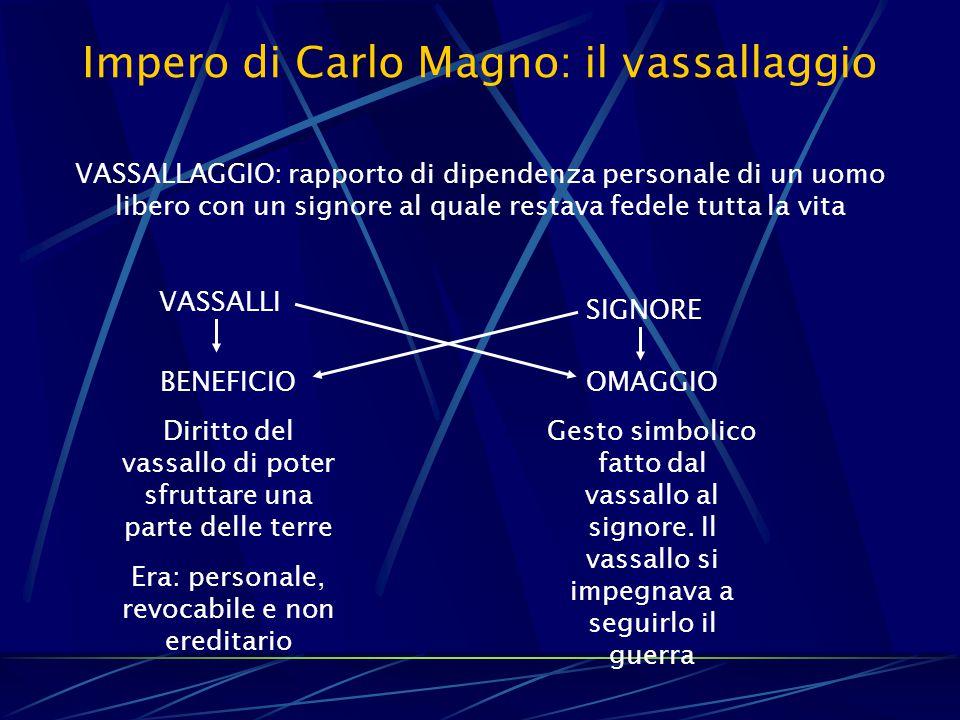 Impero di Carlo Magno: il vassallaggio