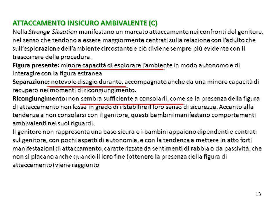 ATTACCAMENTO INSICURO AMBIVALENTE (C)