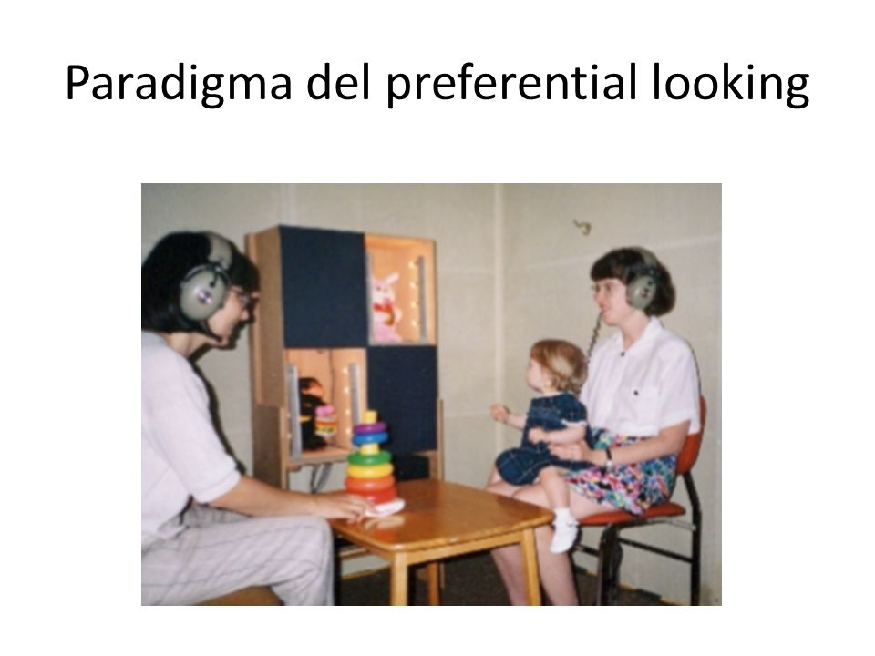 Paradigma del preferential looking