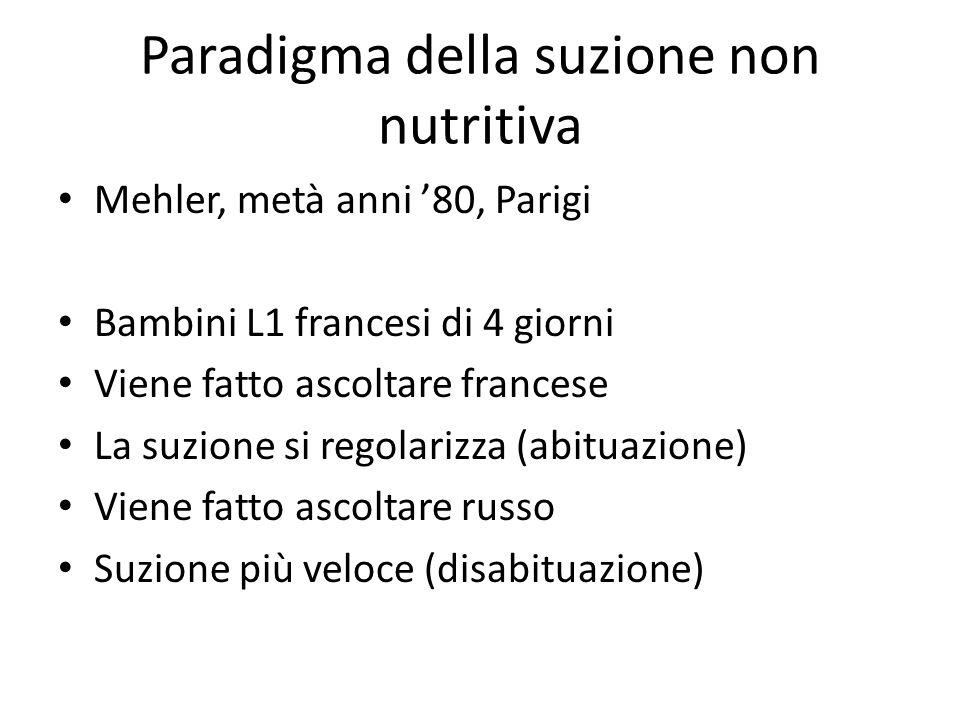 Paradigma della suzione non nutritiva