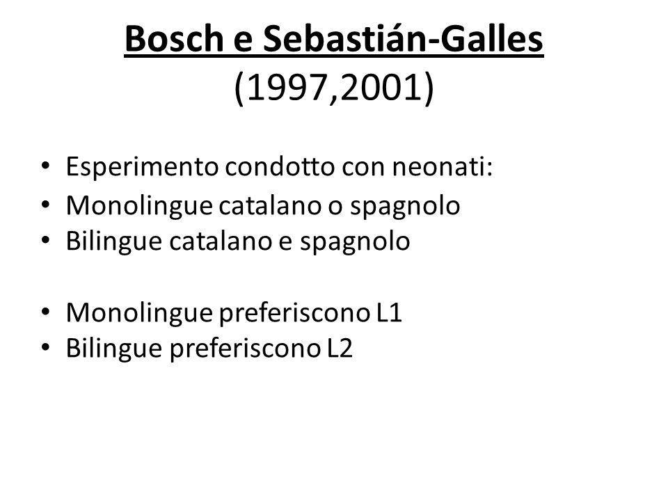 Bosch e Sebastián-Galles (1997,2001)
