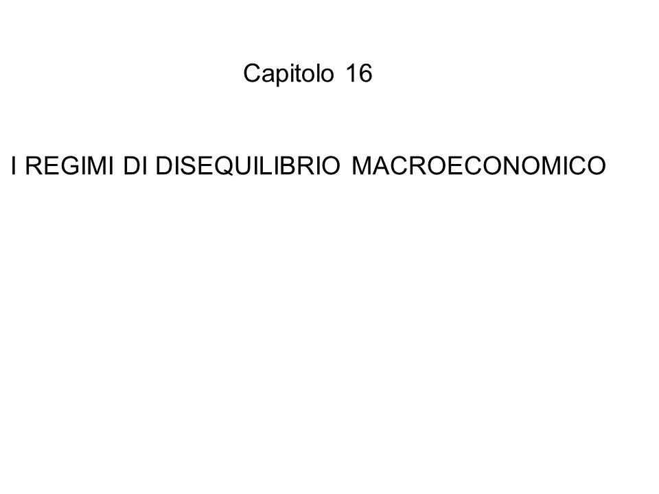 I REGIMI DI DISEQUILIBRIO MACROECONOMICO