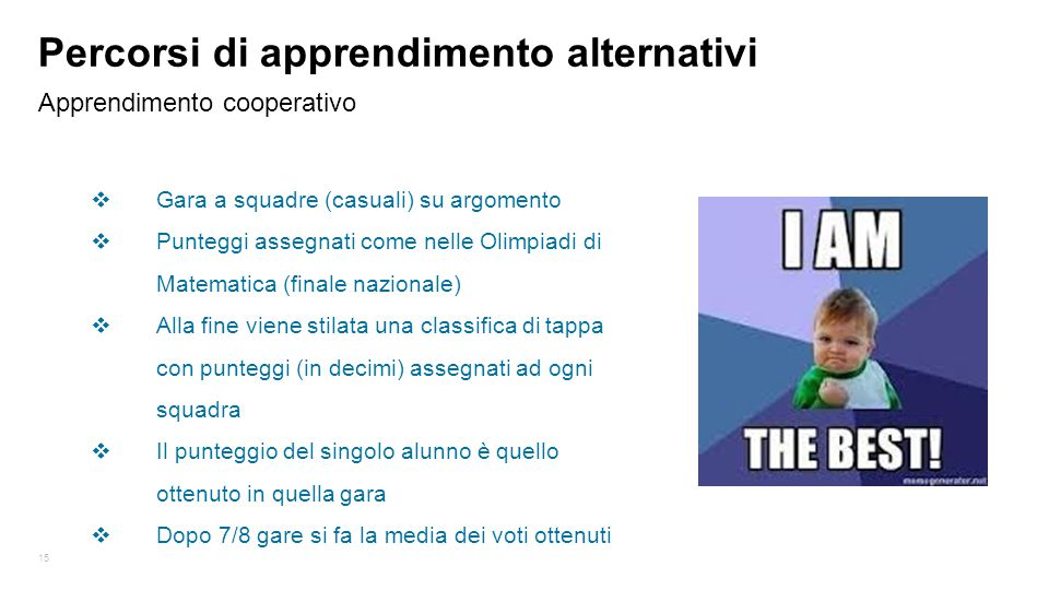 Percorsi di apprendimento alternativi