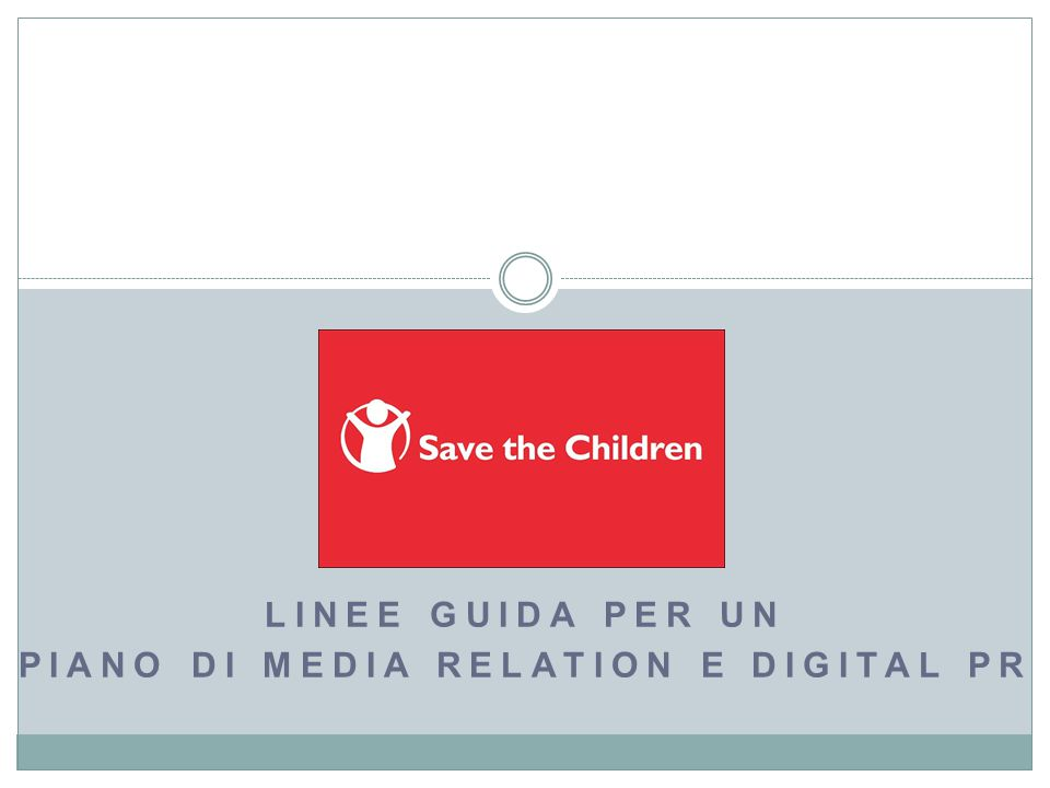 Linee guida per un piano di media relation e digital PR