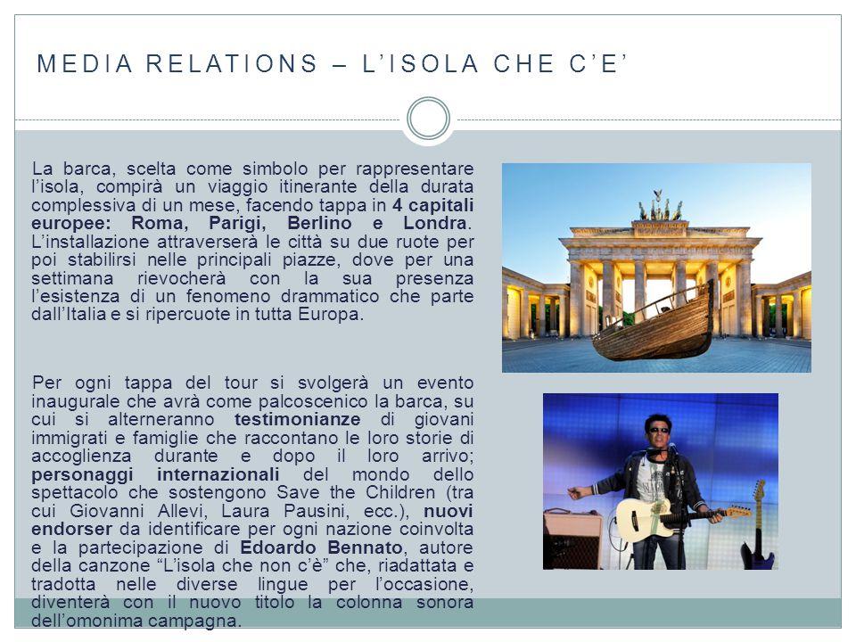 MEDIA RELATIONS – L'ISOLA CHE C'E'