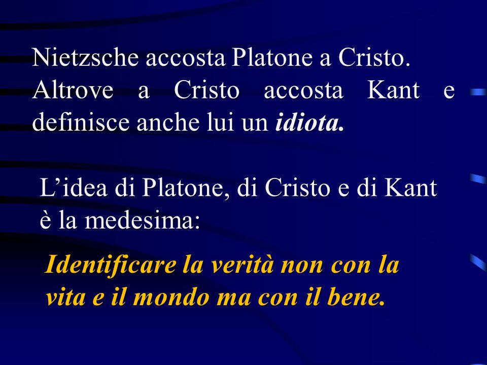 Nietzsche accosta Platone a Cristo.