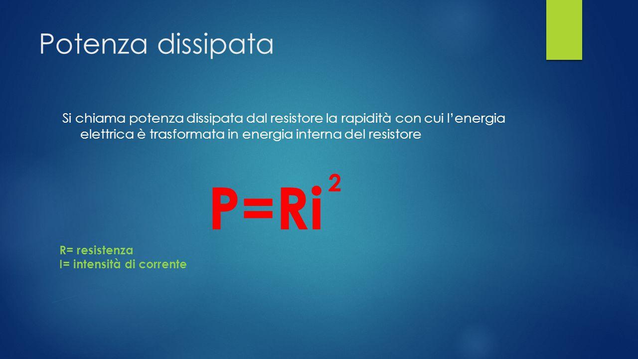 P=Ri Potenza dissipata 2