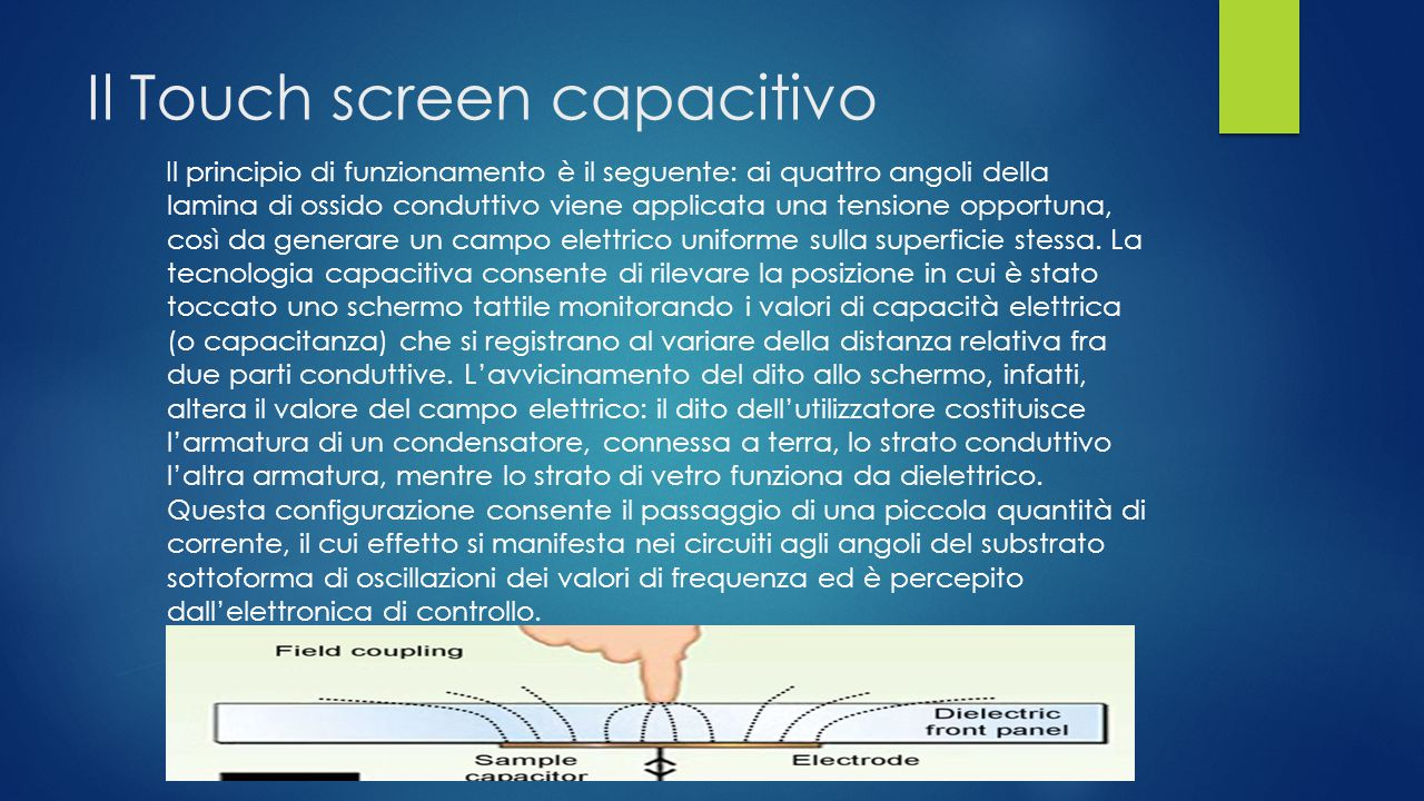 Il Touch screen capacitivo