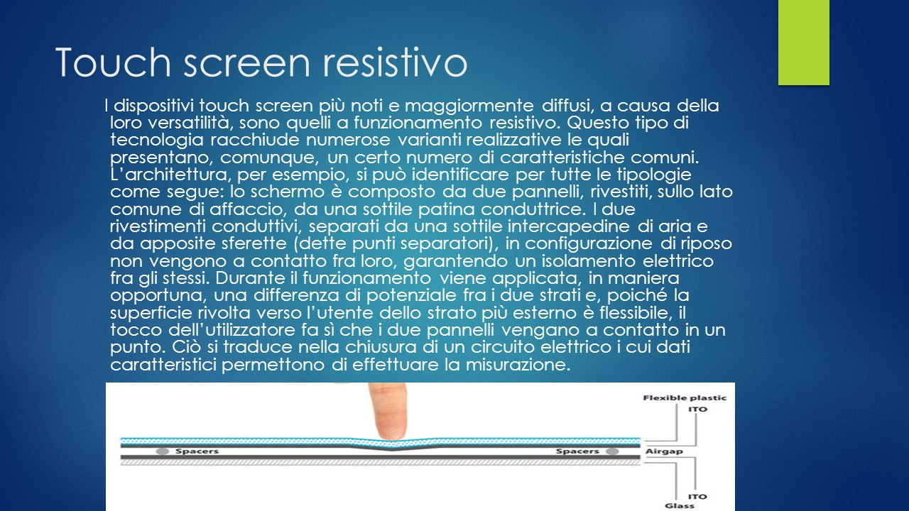 Touch screen resistivo