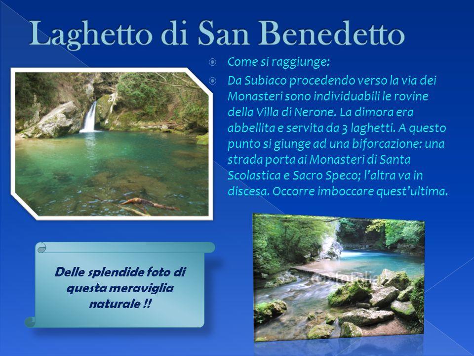 Laghetto di San Benedetto