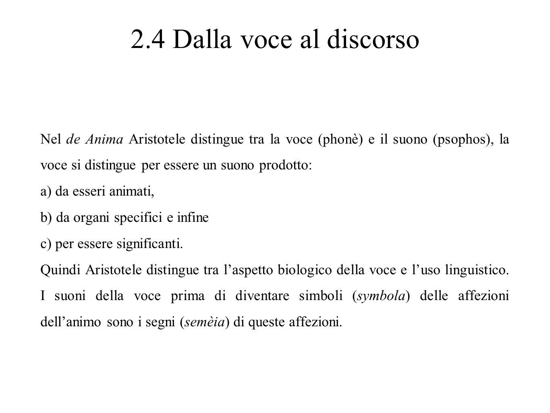 2.4 Dalla voce al discorso