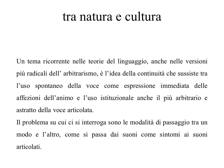 tra natura e cultura