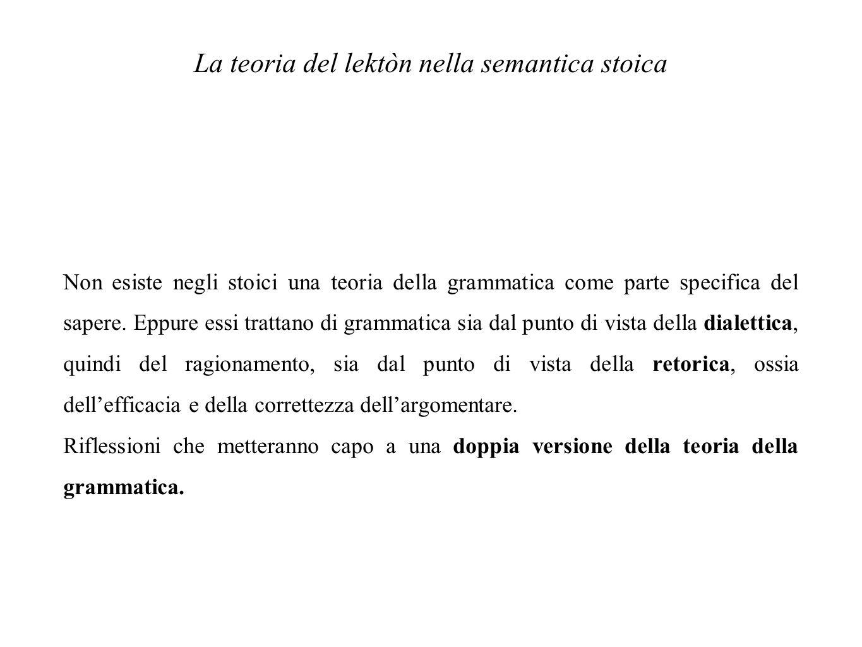 La teoria del lektòn nella semantica stoica