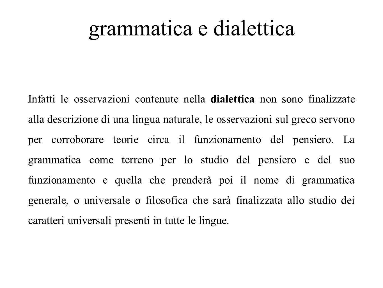 grammatica e dialettica