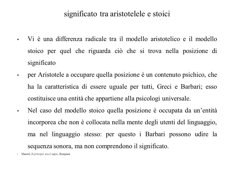 significato tra aristotelele e stoici