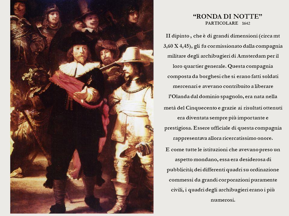 RONDA DI NOTTE particolare 1642