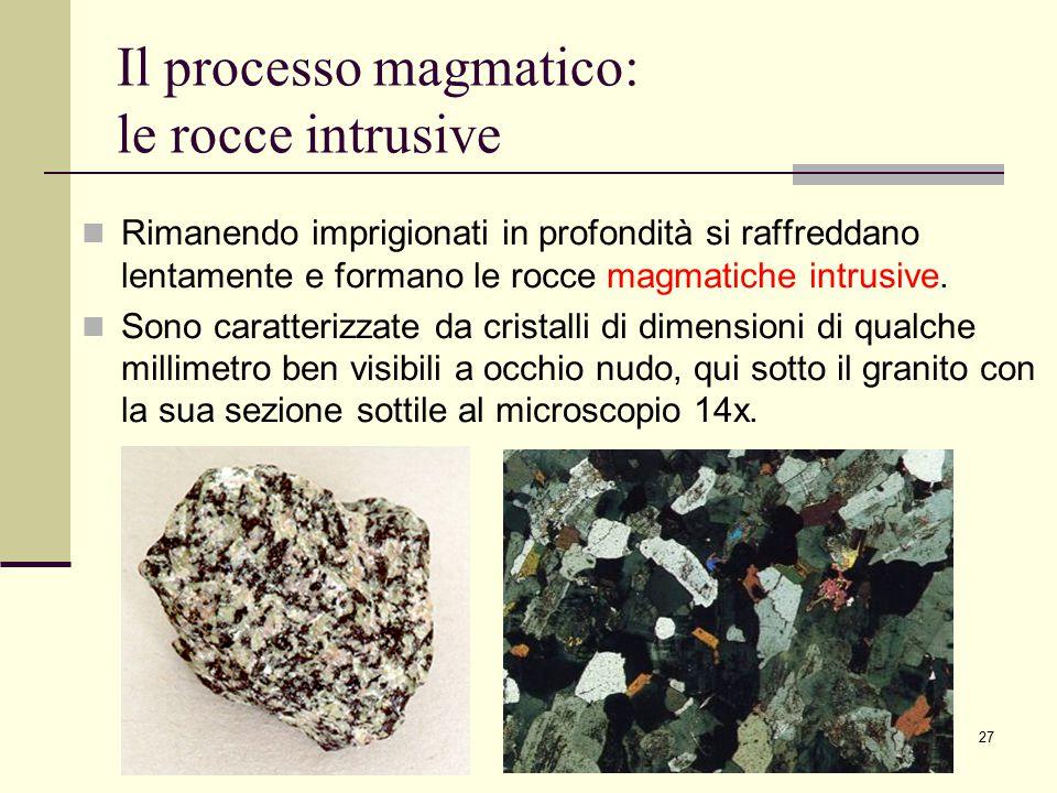 Il processo magmatico: le rocce intrusive