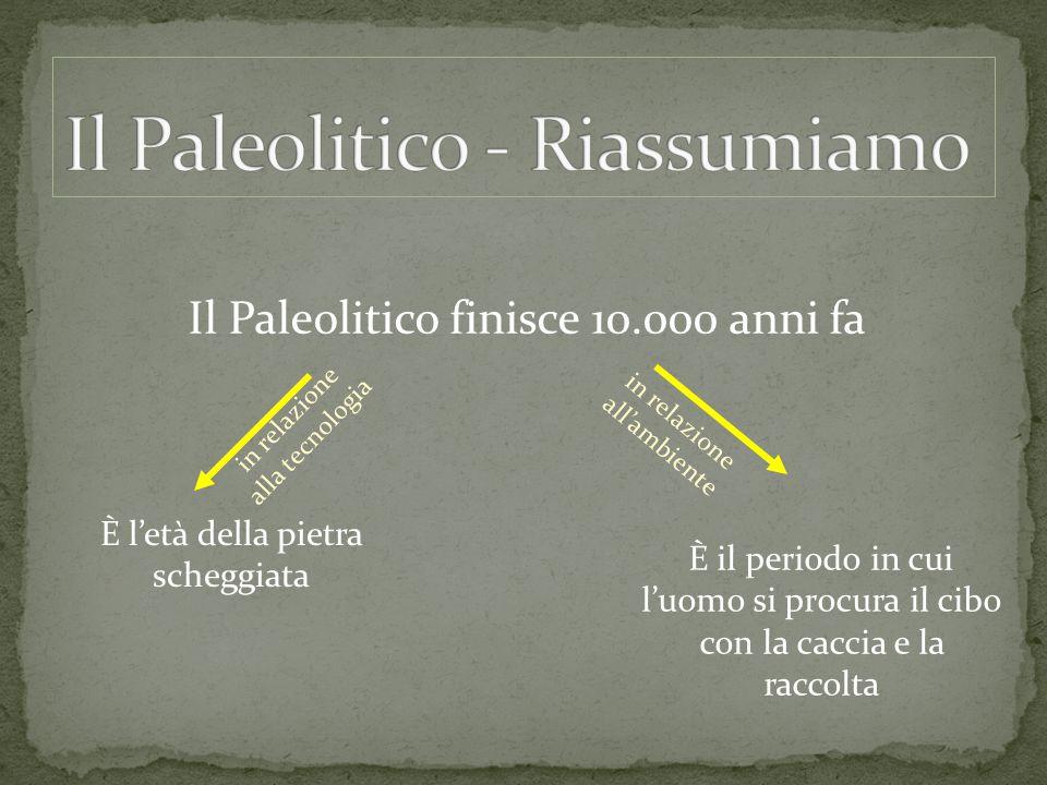 Il Paleolitico - Riassumiamo