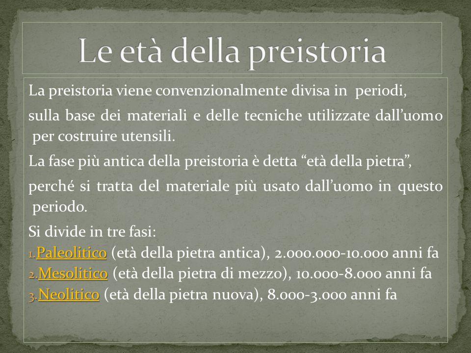 Le età della preistoria
