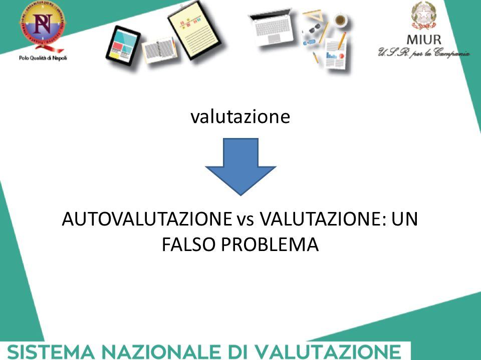 AUTOVALUTAZIONE vs VALUTAZIONE: UN FALSO PROBLEMA