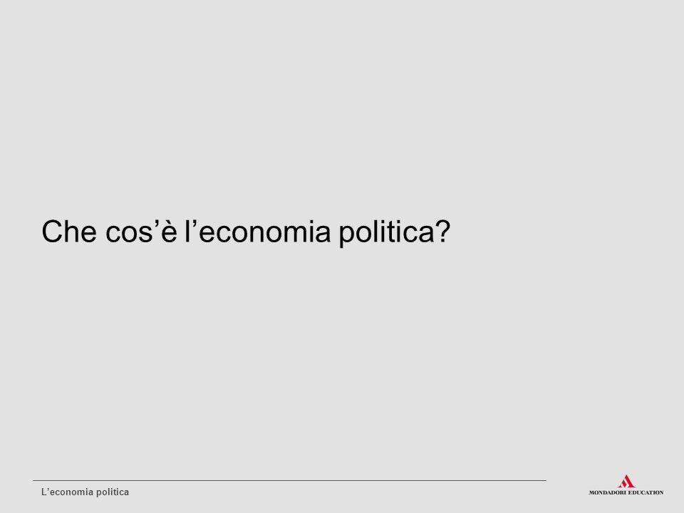 Che cos'è l'economia politica