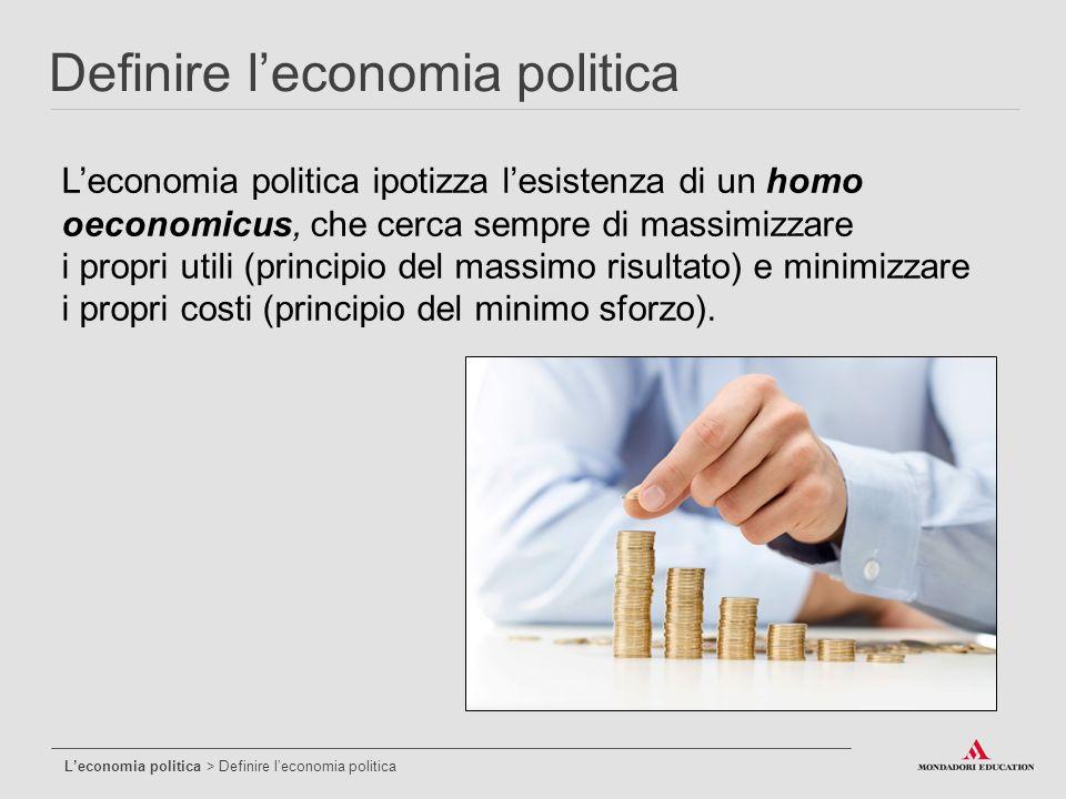 Definire l'economia politica