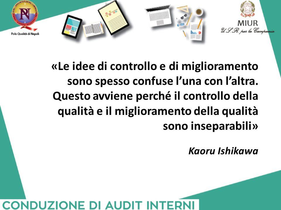 «Le idee di controllo e di miglioramento sono spesso confuse l'una con l'altra. Questo avviene perché il controllo della qualità e il miglioramento della qualità sono inseparabili»