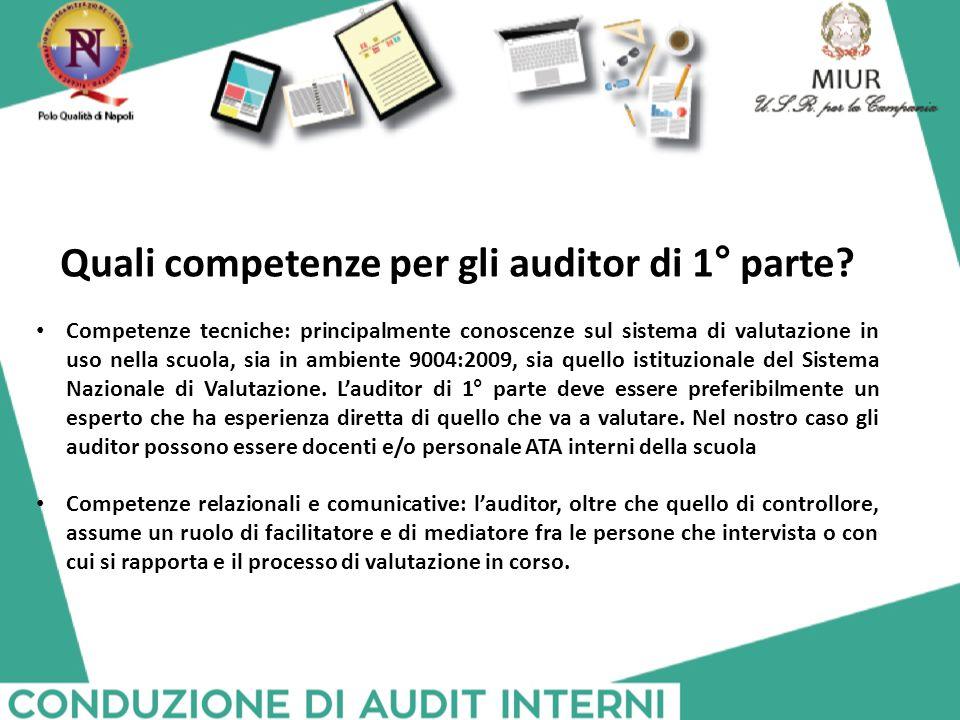 Quali competenze per gli auditor di 1° parte