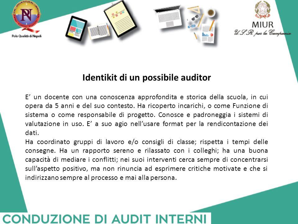 Identikit di un possibile auditor