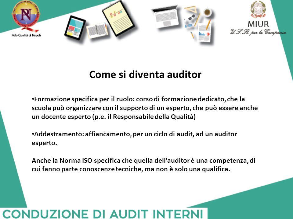 Come si diventa auditor