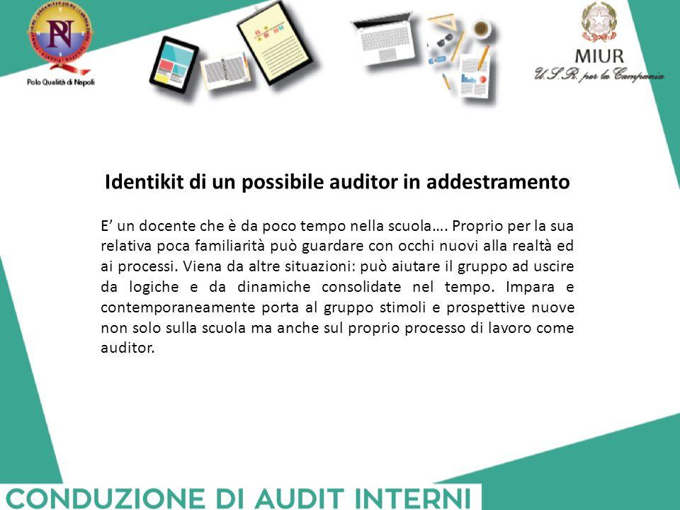 Identikit di un possibile auditor in addestramento