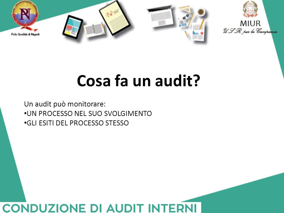 Cosa fa un audit Un audit può monitorare: