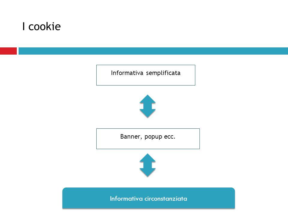 I cookie Informativa circonstanziata Informativa semplificata