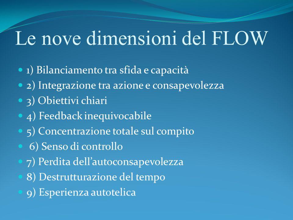 Le nove dimensioni del FLOW