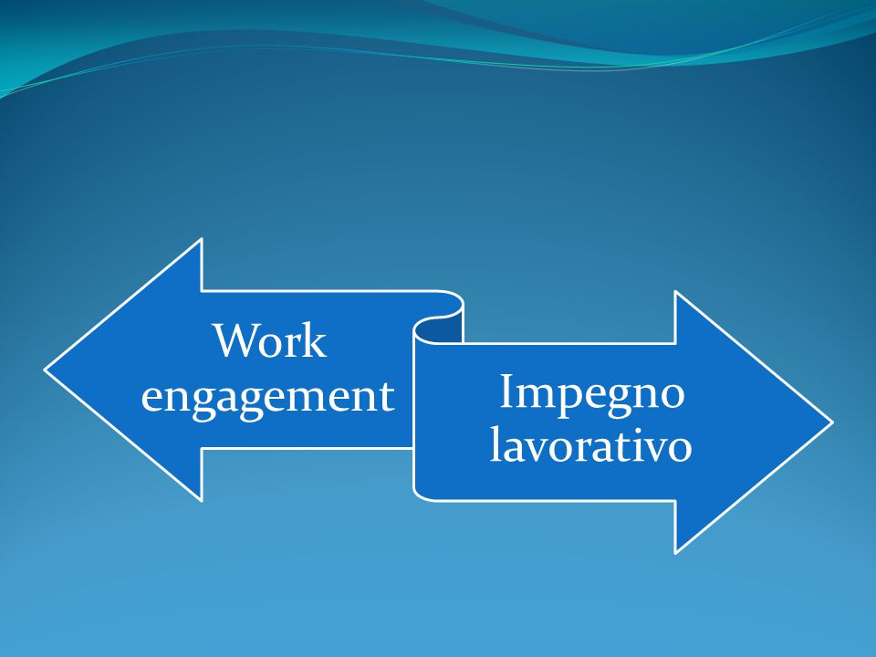 Work engagement Impegno lavorativo