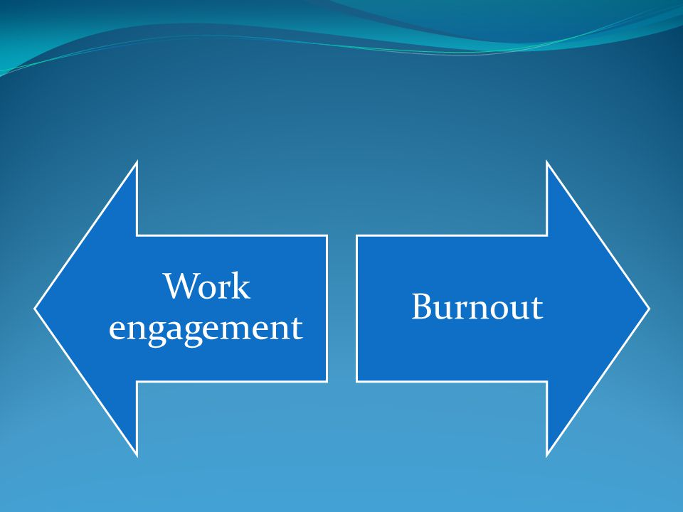 Work engagement Burnout