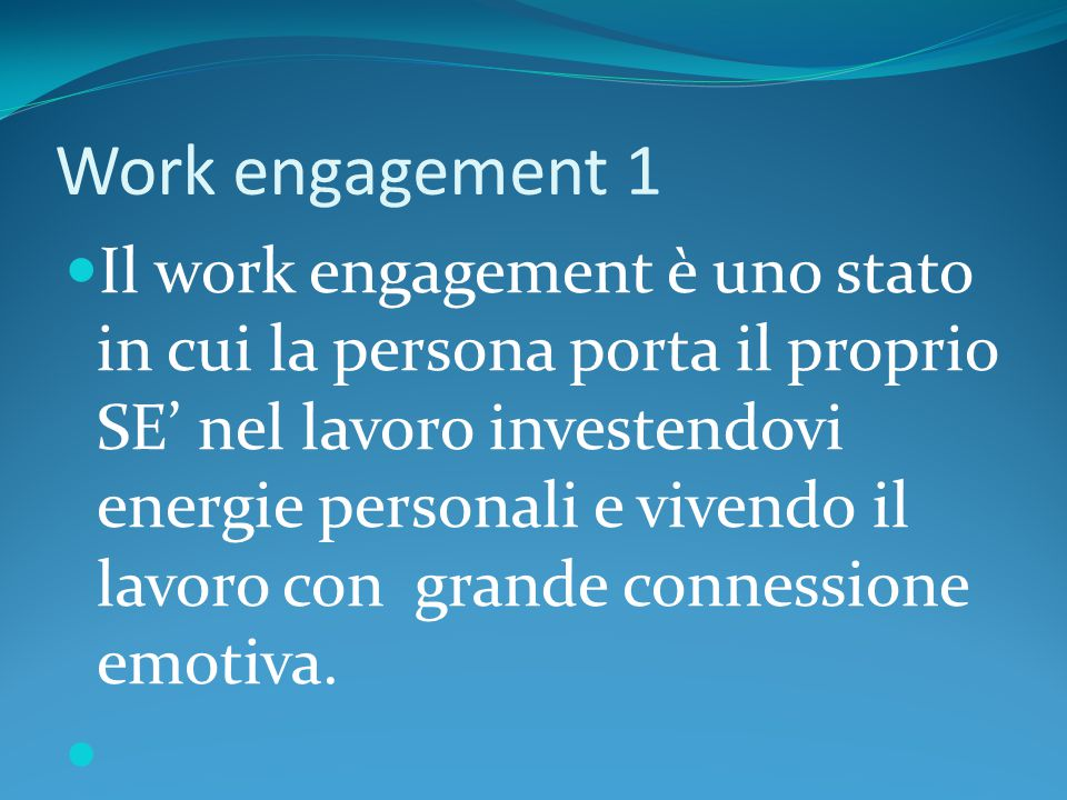 Work engagement 1