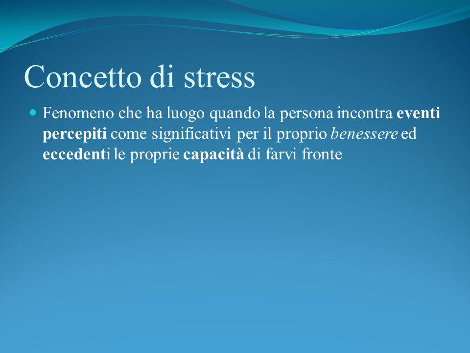 Concetto di stress