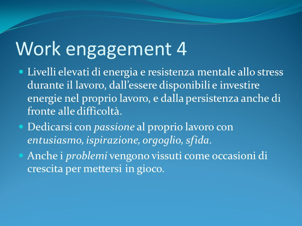 Work engagement 4